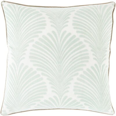 Armando 100% Cotton Throw Pillow Size: 20 H x 20 W x 4 D, Color: Sea Foam, Filler: Polyester