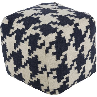 Karbach Ottoman Upholstery: Papyrus / Sapphire Blue