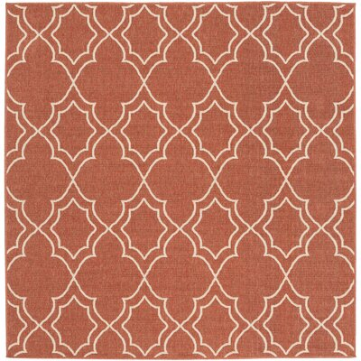 Amato Red Indoor/Outdoor Area Rug Rug Size: Square 73