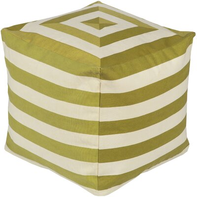 Southington Pouf Ottoman Upholstery: Beige/Lime