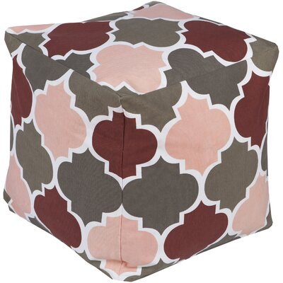 Chelsie Square Pouf Ottoman Upholstery: Charcoal
