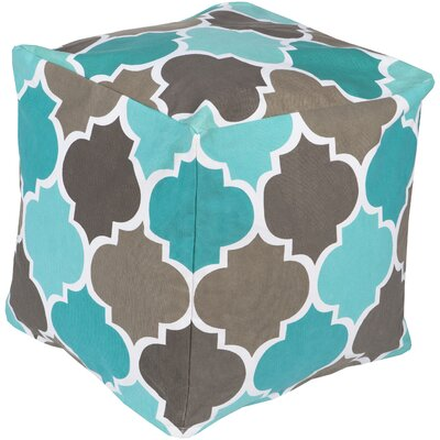 Chelsie Square Pouf Ottoman Upholstery: Taupe