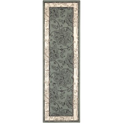 Pearce Moss/Ivory Indoor/Outdoor Area Rug Rug Size: Runner 23 x 79