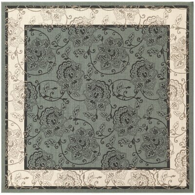 Pearce Moss/Ivory Indoor/Outdoor Area Rug Rug Size: Square 89