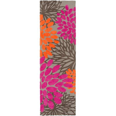 Odele Pink/Brown Area Rug Rug Size: Runner 26 x 8
