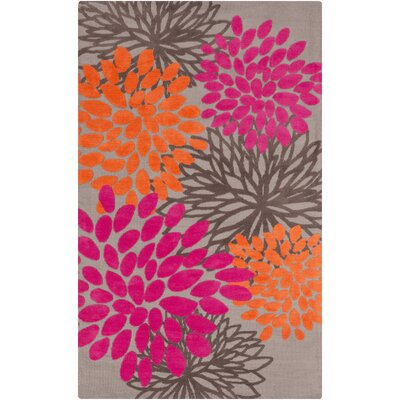 Odele Pink/Brown Area Rug Rug Size: Rectangle 5 x 8