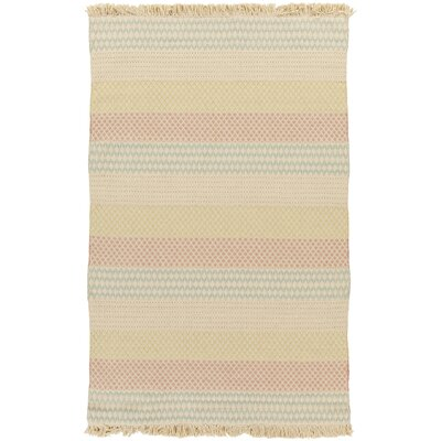 Andrew Hand-Woven Beige Area Rug Rug Size: 4 x 6