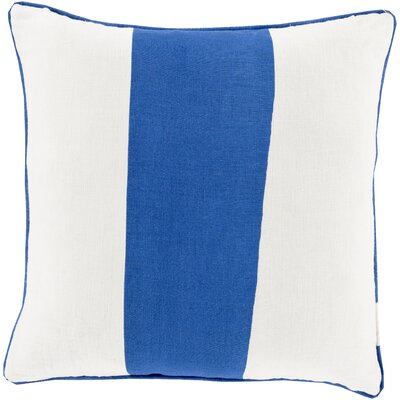 Pinkhead Linen Throw Pillow Size: 18 H x 18 W x 4 D, Color: Blue, Filler: Down
