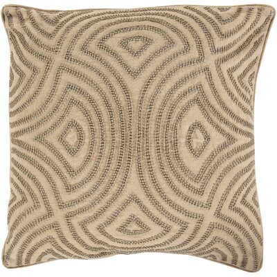 Taylor Linen Throw Pillow Size: 18 H x 18 W x 4 D, Color: Gray, Filler: Down