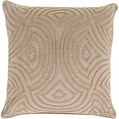 Taylor Linen Throw Pillow Size: 20 H x 20 W x 4 D, Color: Taupe, Filler: Down