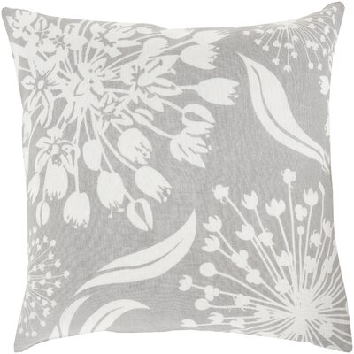 Zak Linen Throw Pillow Size: 20 x 20, Color: Ivory/Olive, Fill Material: Down