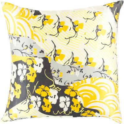 Silk Throw Pillow Color: Gold, Size: 22 H x 22 W x 4 D, Filler: Down