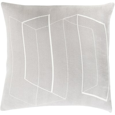 Throw Pillow Size: 18 H x 18 W x 4 D, Color: Light Gray, Filler: Polyester