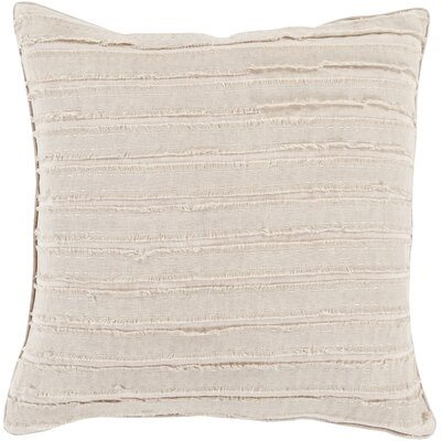 Ward Throw Pillow Color: Taupe, Size: 18 H x 18 W x 4 D, Filler: Down