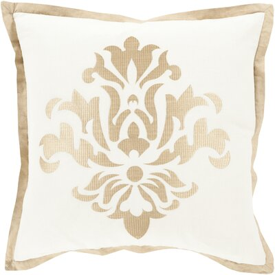 Boulters Throw Pillow Size: 20 H x 20 W x 4 D, Color: Ivory, Filler: Down