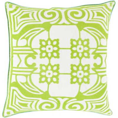 Linen Throw Pillow Size: 18 H x 18 W x 4 D, Color: Lime, Filler: Down