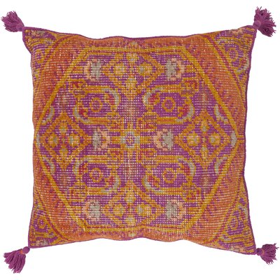 Cantrell Square Throw Pillow Color: Burnt Orange, Filler: Polyester