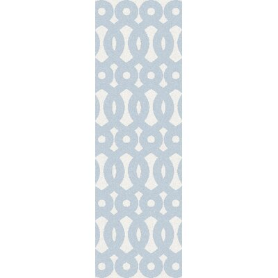 Beals Geometric Sly Blue Area Rug Rug Size: Runner 26 x 8