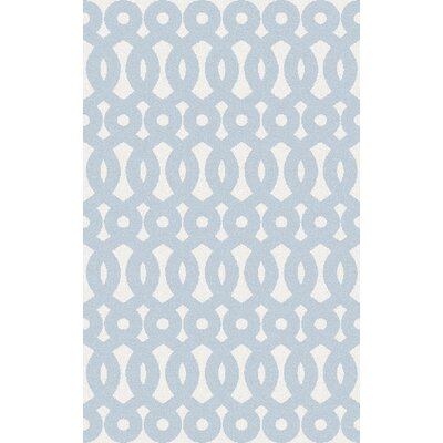 Beals Geometric Sly Blue Area Rug Rug Size: Rectangle 33 x 53