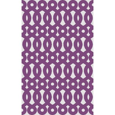 Beals Geomeric Violet Area Rug Rug Size: Rectangle 8 x 11