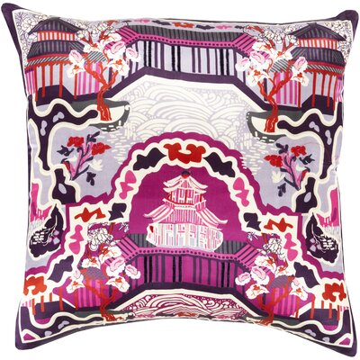 Silk Throw Pillow Size: 20 H x 20 W x 4 D, Color: Magenta, Filler: Polyester