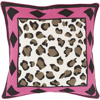 Kolton Throw Pillow Size: 18 H x 18 W x 4 D, Color: Hot Pink, Filler: Down