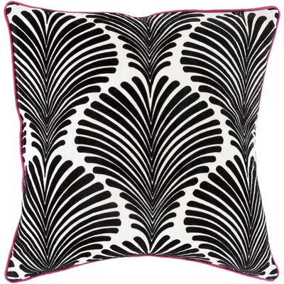 Jennifer Cotton Throw Pillow Size: 18 H x 18 W x 4 D, Color: Charcoal, Filler: Down