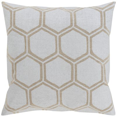 Linen Throw Pillow Size: 18 H x 18 W x 4 D, Color: Light Gray/Beige, Filler: Down