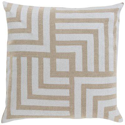 Maze Linen Throw Pillow Color: Light Gray / Beige, Size: 22 H x 22 W x 4 D, Filler: Polyester