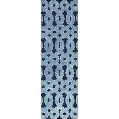 Beals Geometric Sky Blue Area Rug Rug Size: Runner 26 x 8