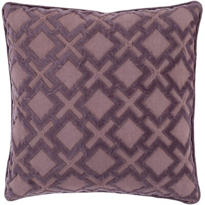 Boulton Throw Pillow Size: 18 H x 18 W x 4 D, Color: Mauve/Charcoal, Filler: Down