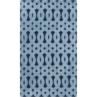 Beals Geometric Sky Blue Area Rug Rug Size: Rectangle 8 x 11