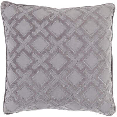 Boulton Throw Pillow Size: 20 H x 20 W x 5 D, Color: Gray/Charcoal, Filler: Down