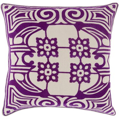 Ace Linen Throw Pillow Size: 22 H x 22 W x 4 D, Color: Eggplant, Filler: Down