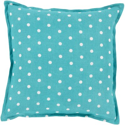 Linen Throw Pillow Size: 22 H x 22 W x 4 D, Color: Teal