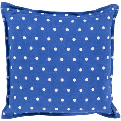 Kristen Linen Throw Pillow Size: 18 H x 18 W x 4 D, Color: Cobalt
