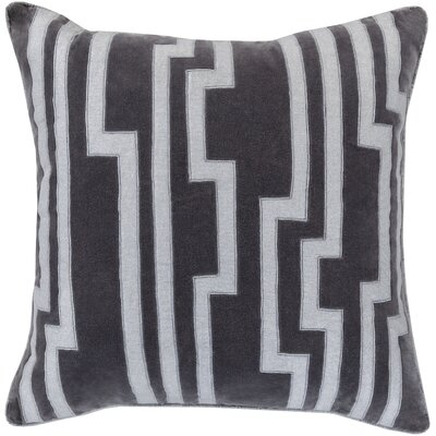 Bornstein Throw Pillow Size: 18 H x 18 W x 4 D, Color: Gray, Filler: Down