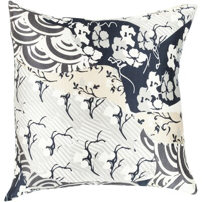 Hebert Silk Throw Pillow Size: 18 H x 18 W x 4 D, Color: Forest, Filler: Down