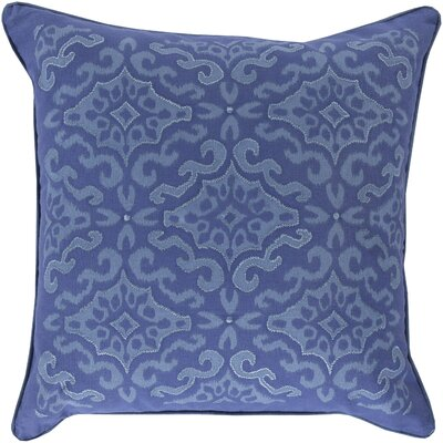 Mammoth Cotton Throw Pillow Size: 18 H x 18 W x 4 D, Color: Slate / Cobalt, Fill Material: Down