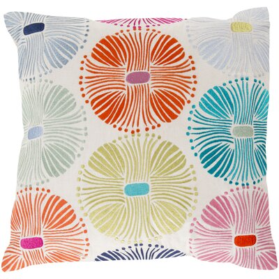 Cotton Throw Pillow Size: 18 H x 18 W x 4 D, Color: Multi, Filler: Polyester