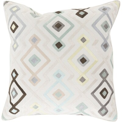 Francina Cotton Throw Pillow Size: 22 H x 22 W, Color: Teal, Filler: Down