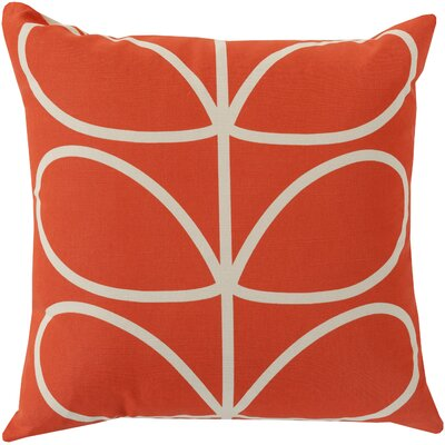 Calvin Stem Throw Pillow Color: Poppy, Fill Material: Polyester