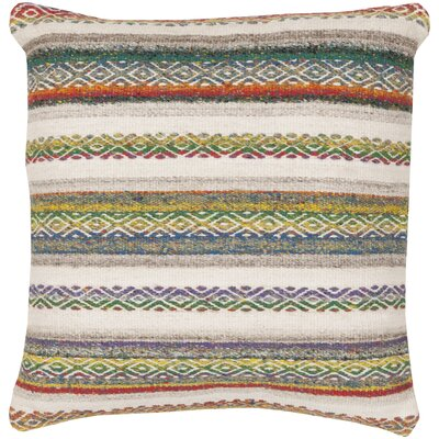 Gilbert Striped Throw Pillow Color: Teal, Size: 30 H x 30 W, Filler: Down