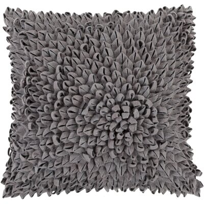 Berryville Throw Pillow Size: 20 H x 20 W x 4 D, Color: Charcoal, Filler: Down