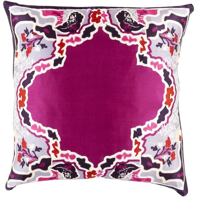Silk Throw Pillow Size: 18 H x 18 W x 4 D, Color: Dark Magenta, Filler: Polyester