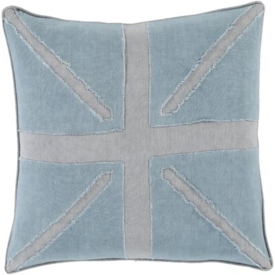 Ioannis Throw Pillow Size: 18 H x 18 W x 4 D, Color: Slate, Filler: Down