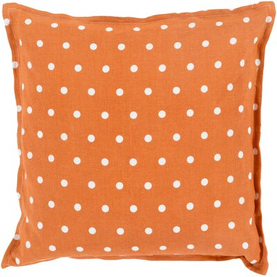 Kristen Linen Throw Pillow Size: 20 H x 20 W x 4 D, Color: Burnt Orange