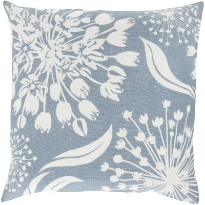 Zak Linen Throw Pillow Size: 20 x 20, Color: Sky Blue/Ivory, Fill Material: Polyester