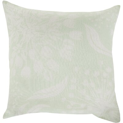Zak Linen Throw Pillow Size: 20 x 20, Color: Mint/Ivory, Fill Material: Down