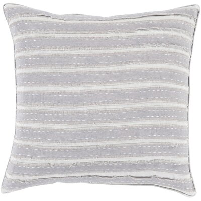 Ward Throw Pillow Size: 22 H x 22 W x 4 D, Color: Light Gray, Filler: Down